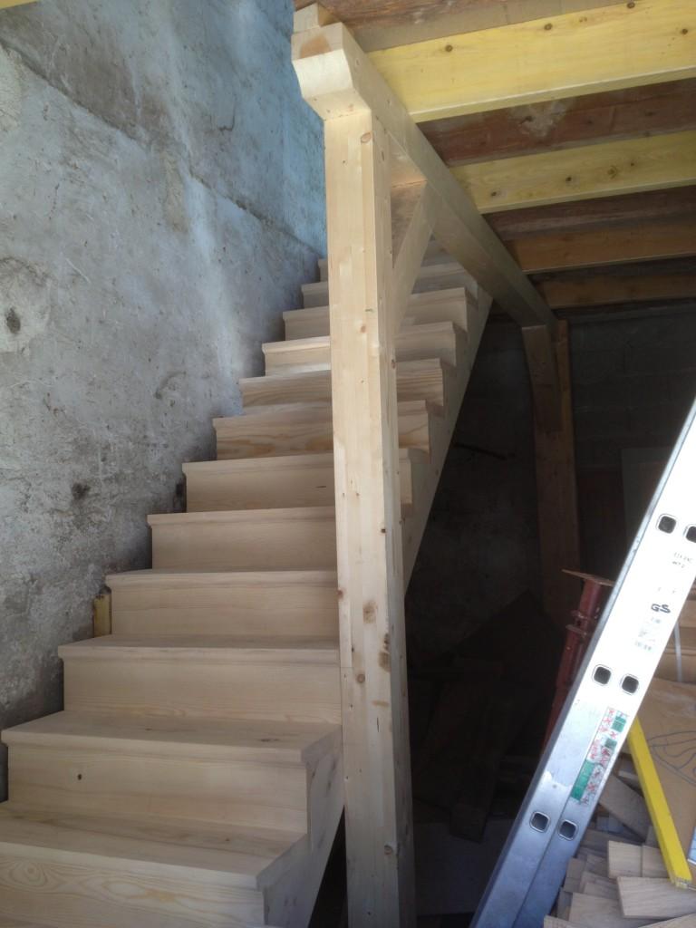 Escalier Bois 1/4 tournant