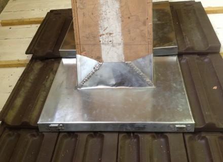 Abergement cheminée sur tuiles mécaniques
