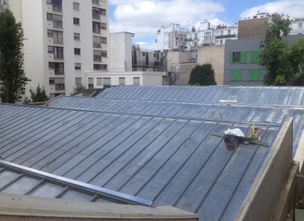 Rénovation couverture zinc à tasseaux